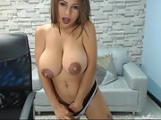 First-timer ultra-cutie busty tart cam with amazing areolas p1